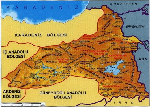 Doğu-Anadolu-bolgesi-fiziki-haritası