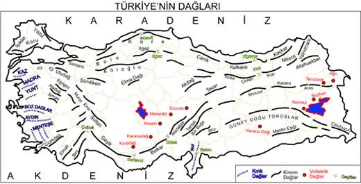 türkiyenin-dağları