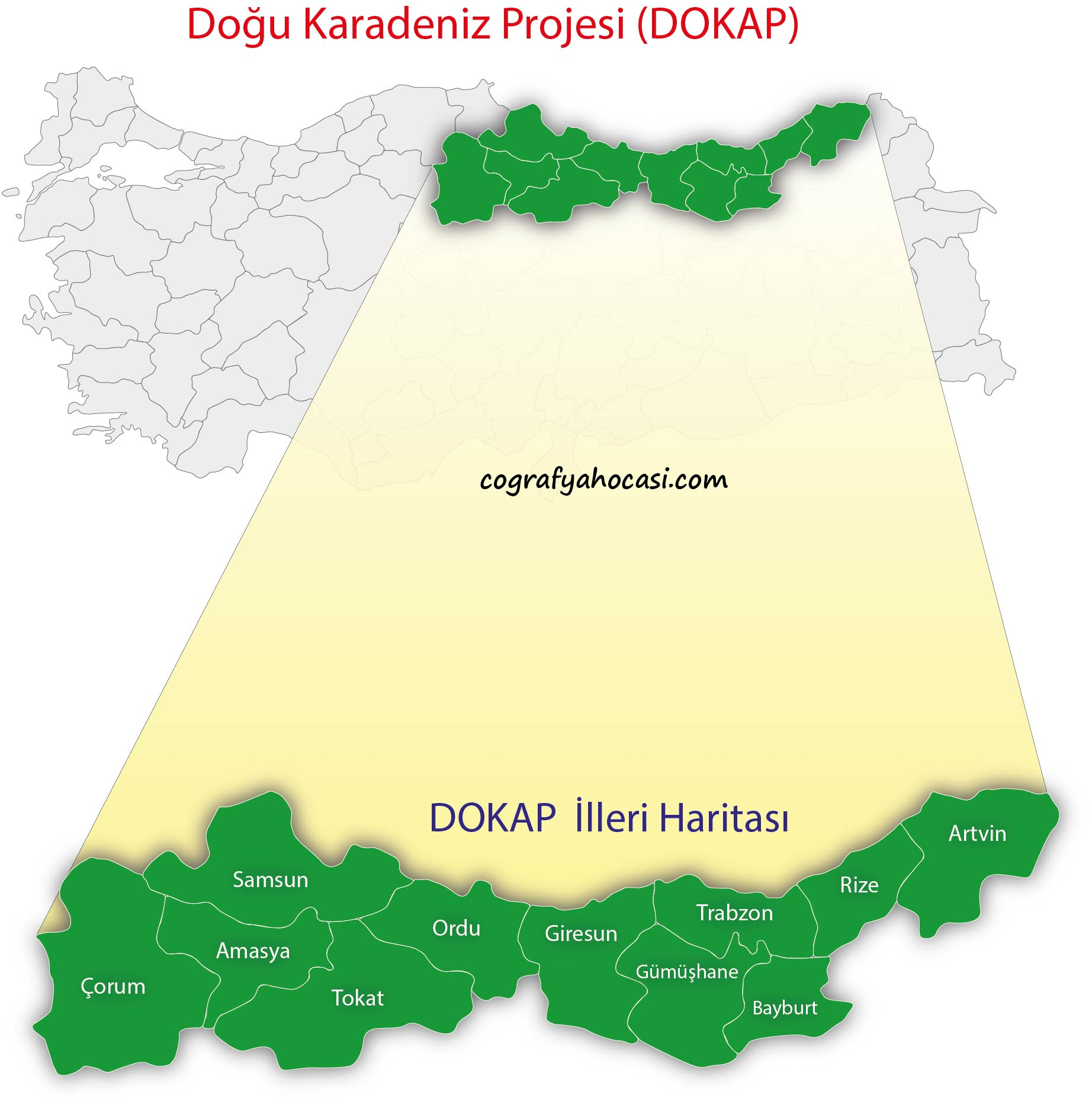 Doğu Karadeniz Projesi (DOKAP) Haritası