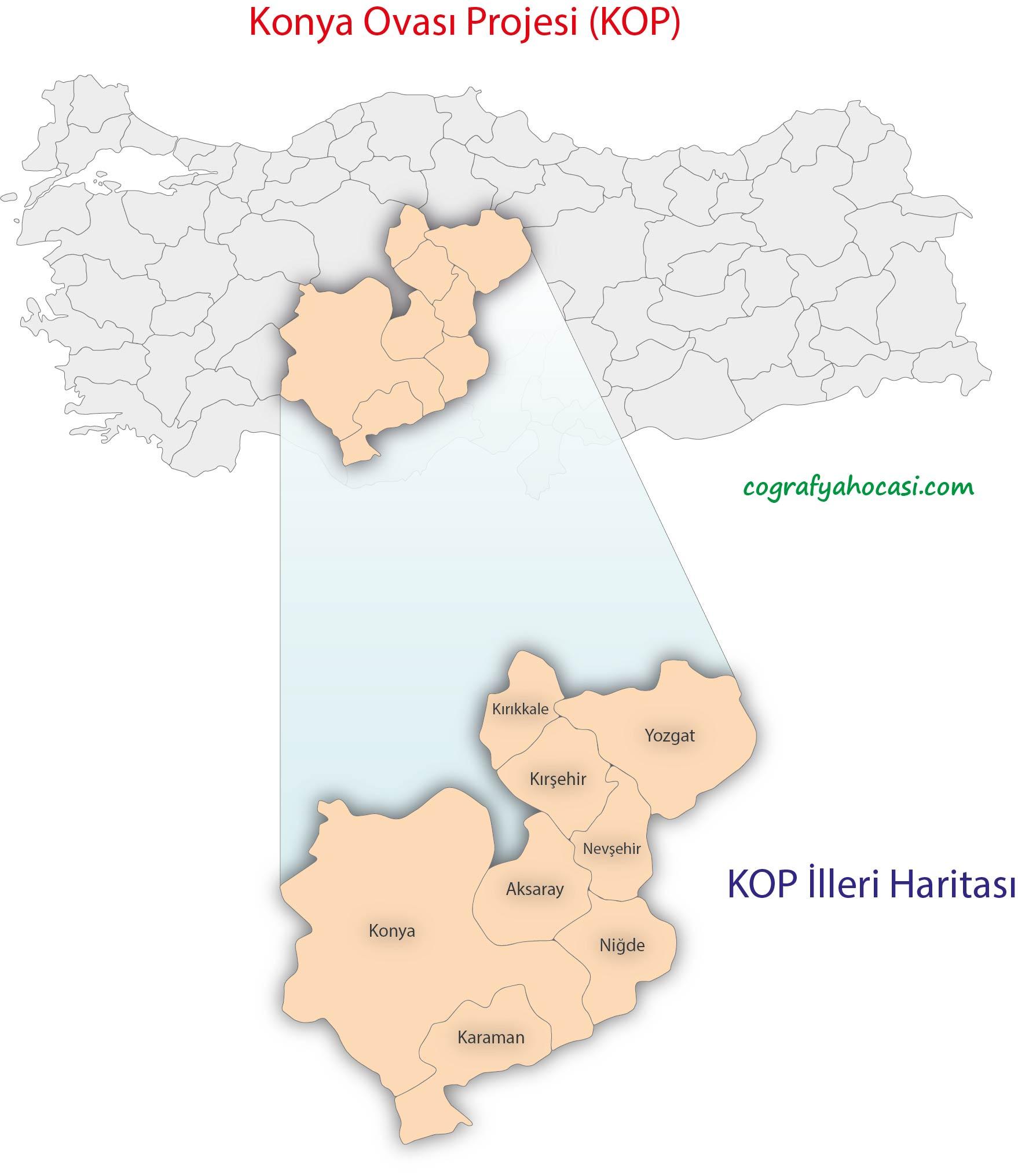 Konya Ovası Projesi Harita