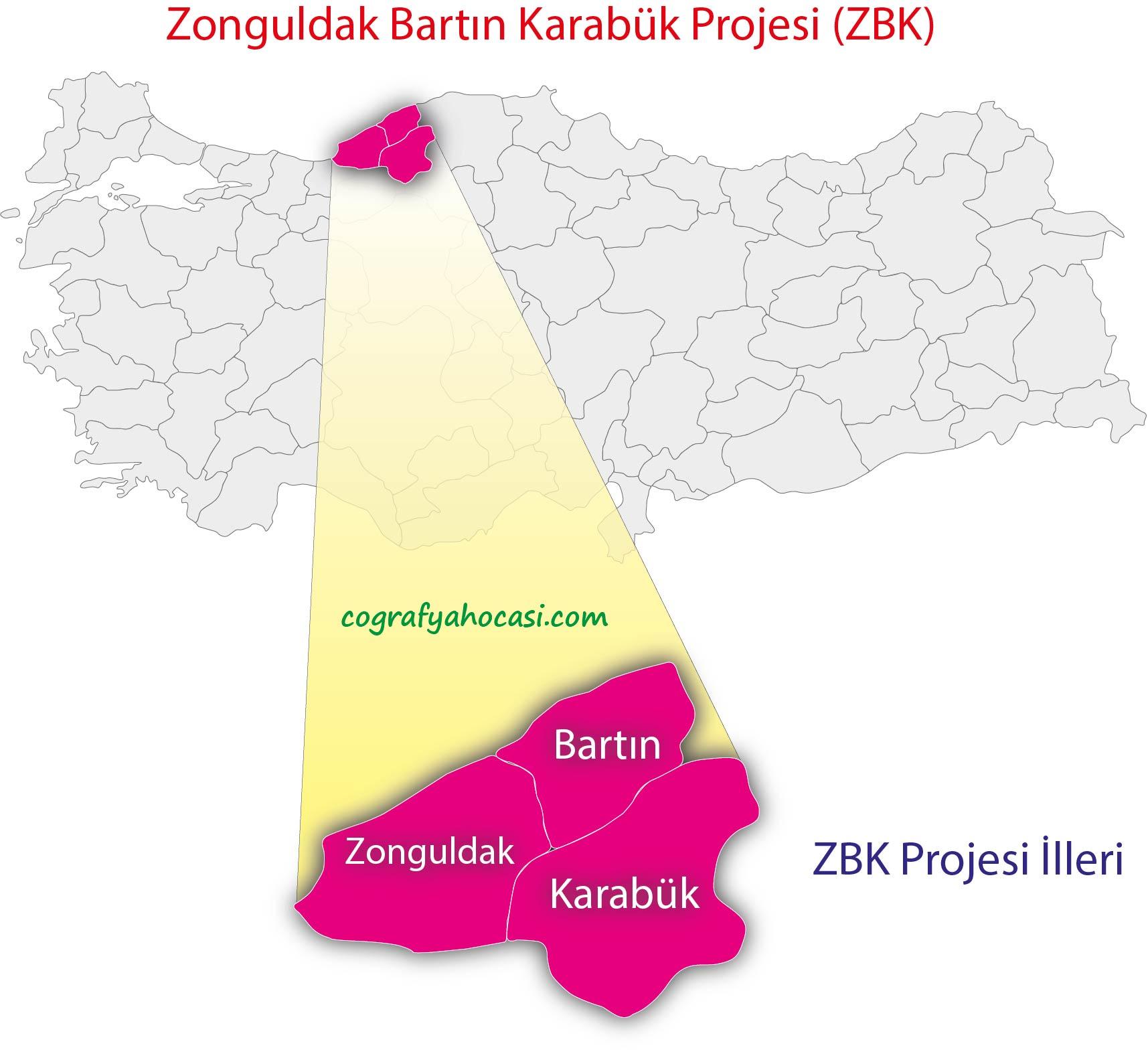 Zonguldak Bartın Karabük Projesi Harita