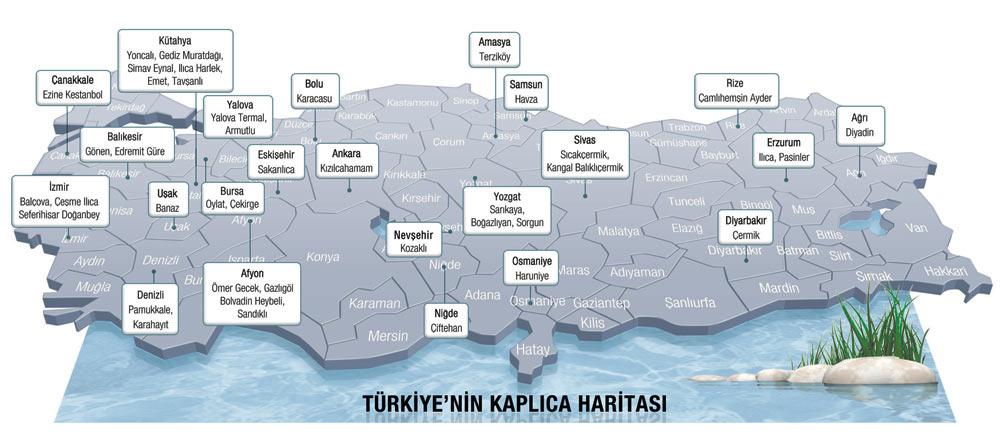 Türkiye Termal, Kaplıca, ılıca Haritası