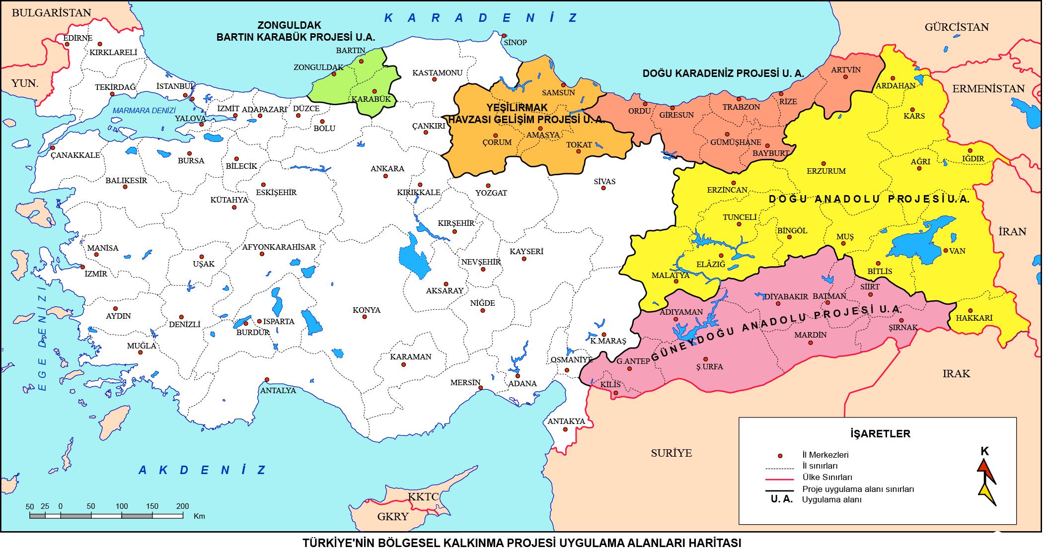 Türkiye'nin Bölgesel Kalkınma Projeleri Haritası
