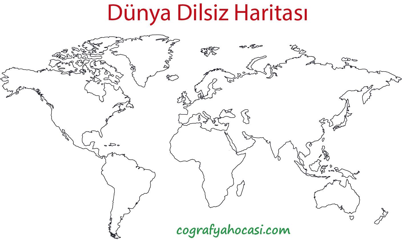 Dünya Dilsiz Haritası-1