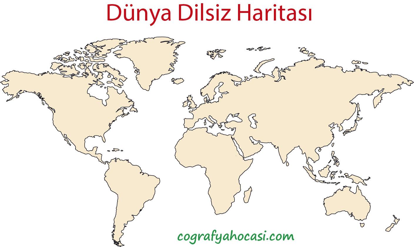 Dünya Dilsiz Haritası-2