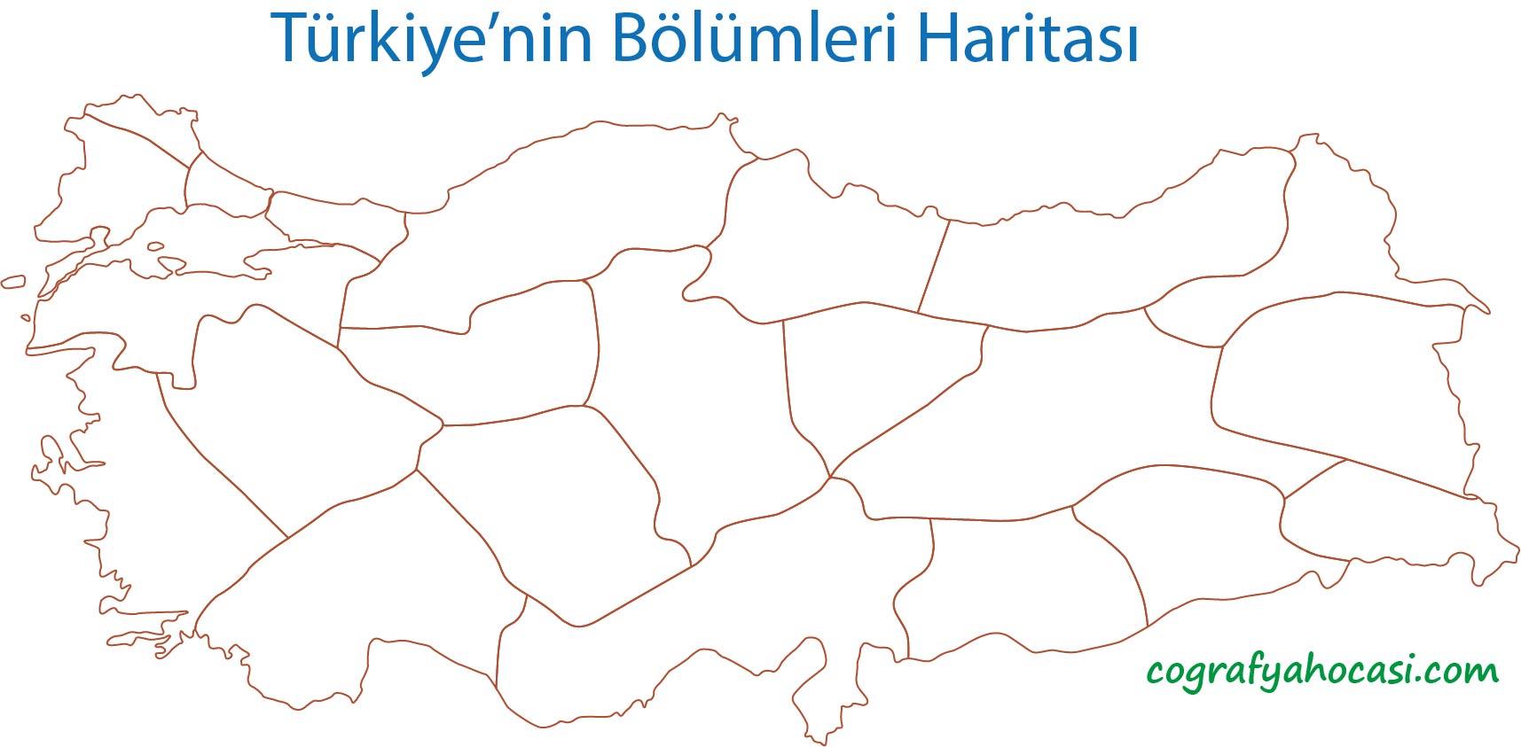 Türkiye'nin Bölümleri Dilsiz Harita