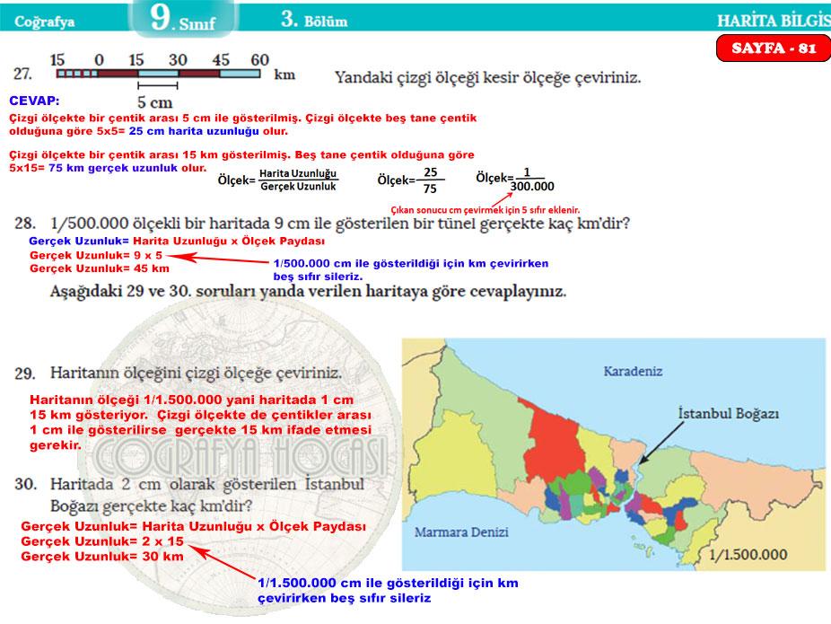 Harita Bilgisi Ölçme Değerlendirme Cevapları