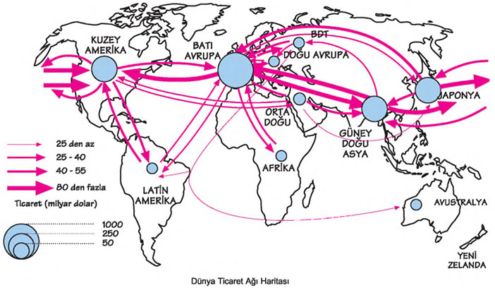 Dünya Ticaret Ağı Haritası