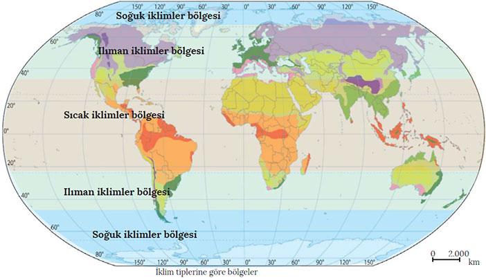 İklim Tiplerine Göre Bölgeler