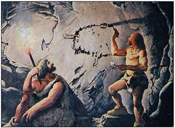 ilk insanlar mağara resmi