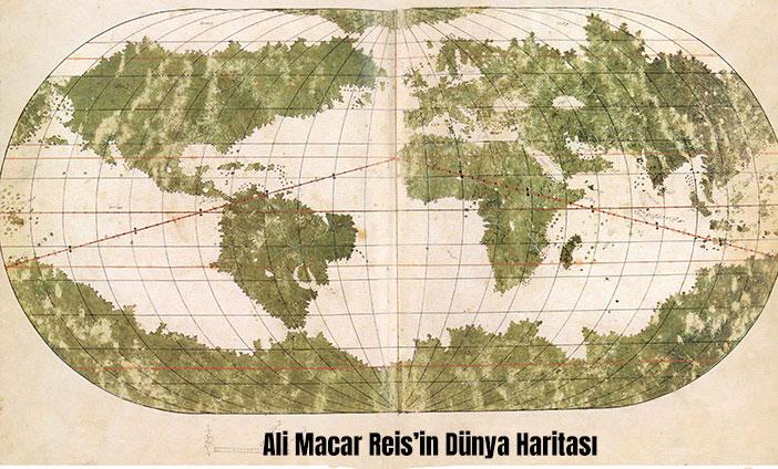 Ali Macar Reis'in Dünya Haritası