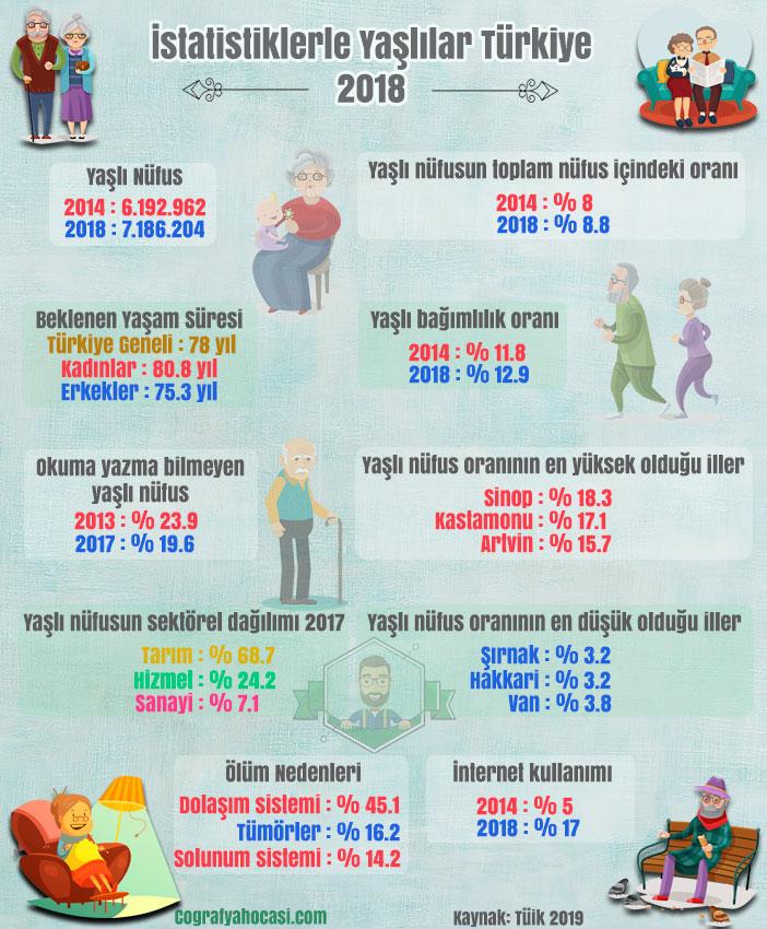 Yaşlı Nüfus İstatistikleri 2018