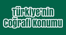 Türkiye'nin Coğrafi Konumu Slayt