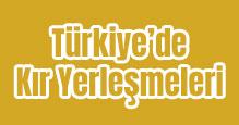 Türkiye'de Kır Yerleşmeleri Slayt