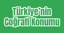 Türkiye'nin Coğrafi Konumu Slaytı