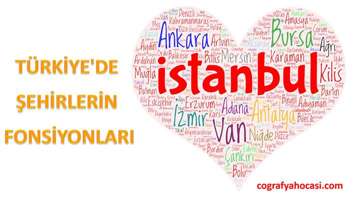 Türkiye'de Şehirlerin Fonksiyonları Slayt