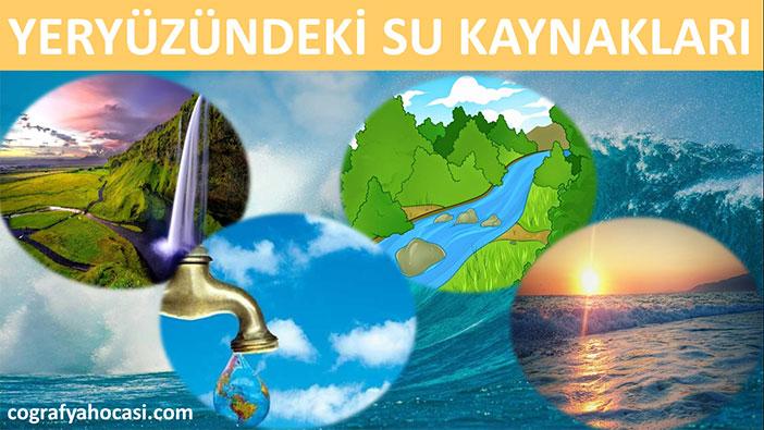 Yeryüzündeki Su Kaynakları Slayt