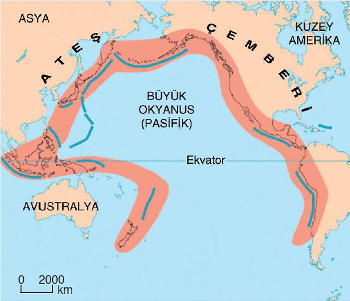 Pasifik Ateş Çemberi nedir