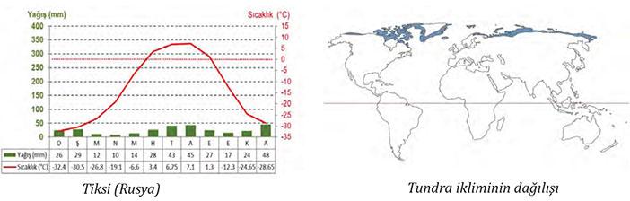 Tundra İklimi grafiği