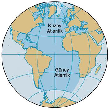 Atlas Okyanusu Haritası