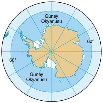 Güney Okyanusu Haritası