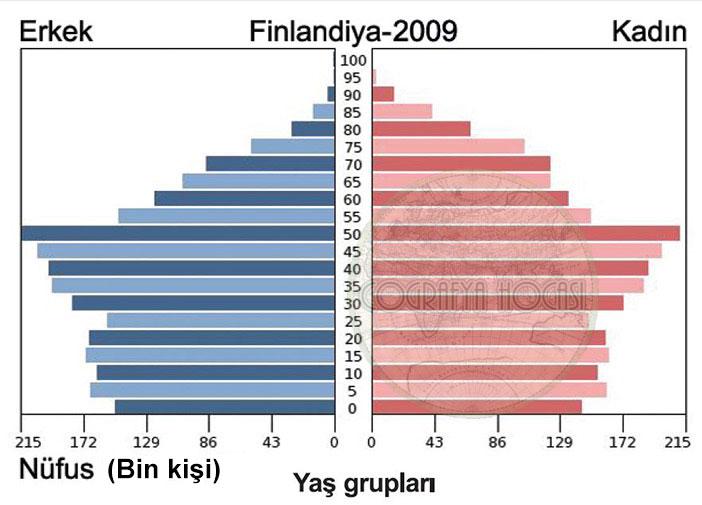 Finlandiya Nüfus Piramidi 2009