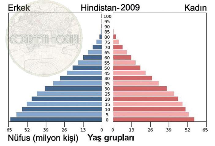 Hindistan Nüfus Piramidi 2009