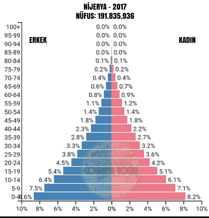 Nijerya Nüfus Piramidi 2017