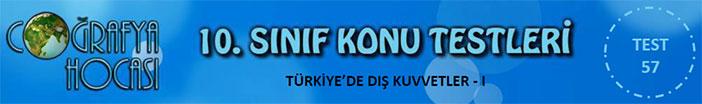 Türkiye'de Dış Kuvvetler Testi