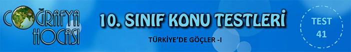 Türkiye'de Göçler Testi