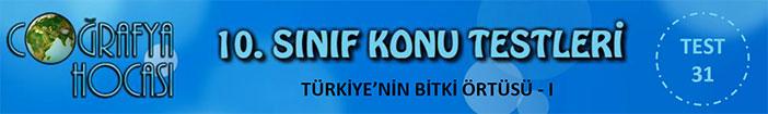Türkiye'nin Bitki Örtüsü Testi