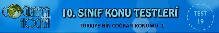 Türkiye'nin Coğrafi Konumu Testi