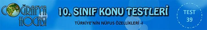Türkiye'nin Nüfus Özellikleri Testi