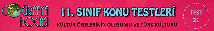 Kültür Bölgelerinin Oluşumu ve Türk Kültürü Testi