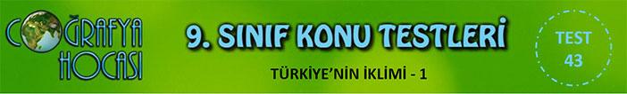 Türkiye'nin İklimi Testi