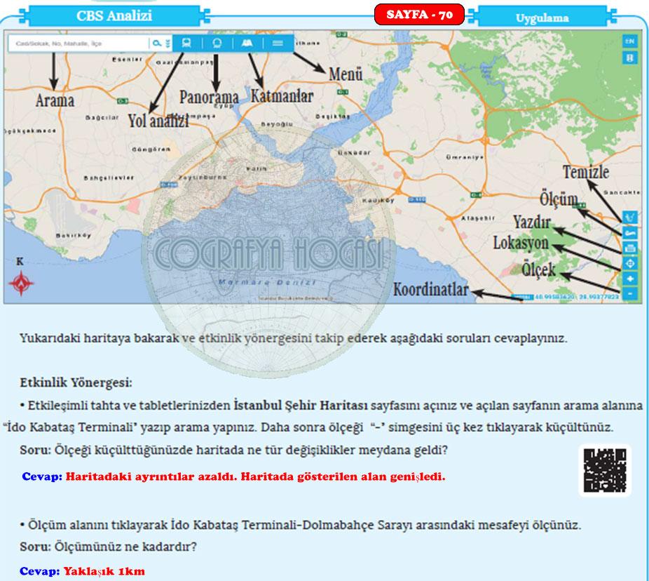 Harita Bilgisi Sayfa 70 Uygulama Cevapları