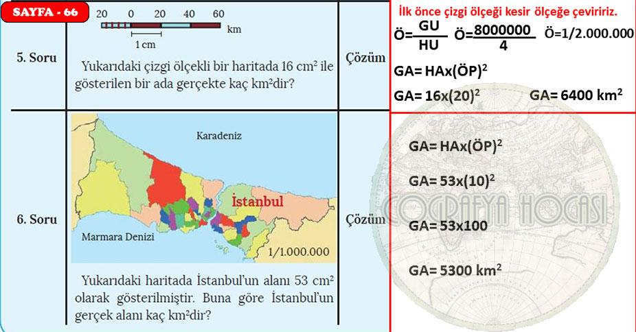 Harita Bilgisi Sayfa 66 Uygulama Cevapları