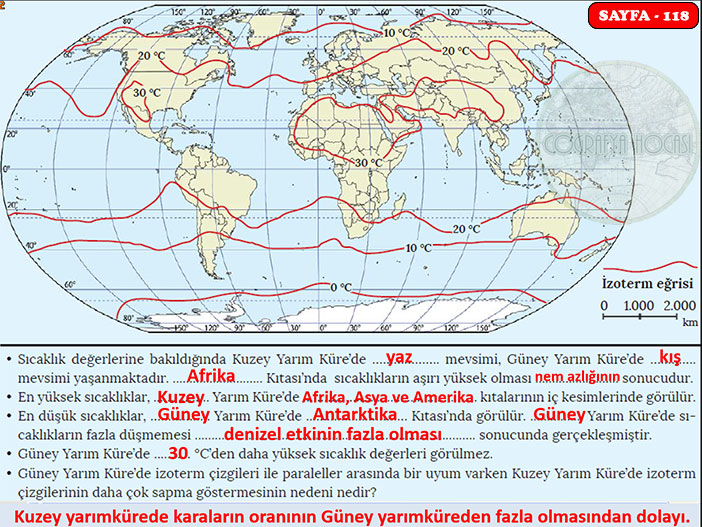 İklim Bilgisi Sayfa 118 Uygulama Cevapları