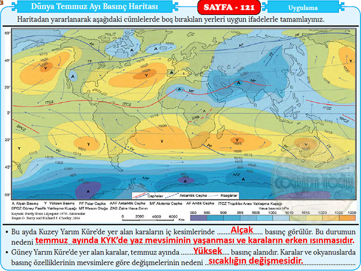 İklim Bilgisi Sayfa 121 Uygulama Cevapları